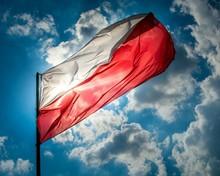 Low Angle View Of Polish Flag ...