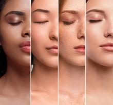 Crop Multiethnic Women With Pe...
