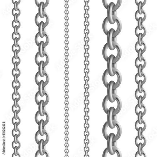 Leinwand Poster Metal seamless chain collections