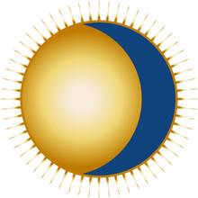 Sun And Moon Vector Icon