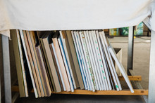 A Vertical Stack Of Painted Ca...