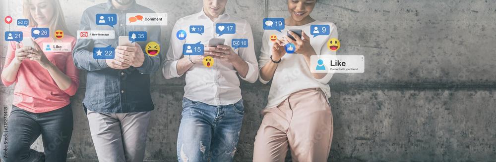 Fototapeta Social media concept.