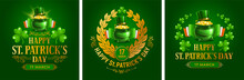 Saint Patricks Day Emblems Set