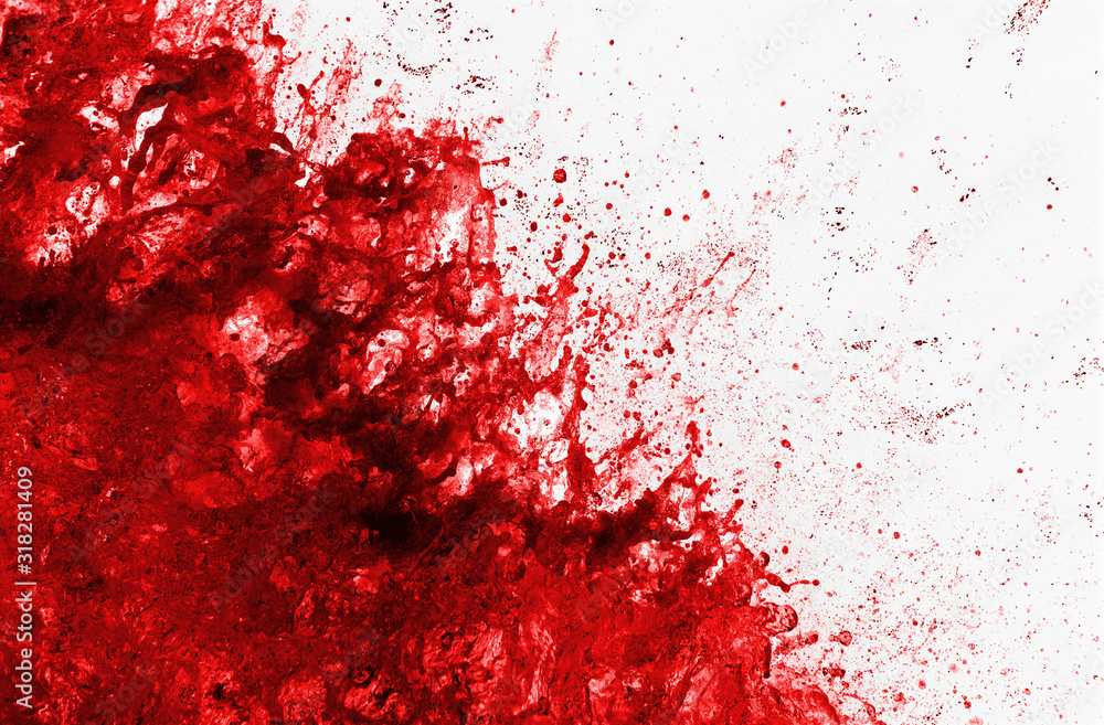 Fototapeta Schizzo di sangue che esplode