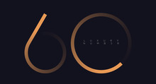 Golden Line Six - Zero Numbers Vector Font Alphabet, Modern Minimal Luxury Flat Design For Your Unique Design Elements ; Logo, Corporate Identity, Application, Creative Poster & More EPS