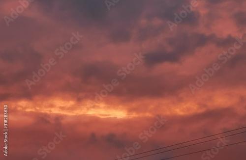 Fototapeta ciel et nuages colorés obraz na płótnie