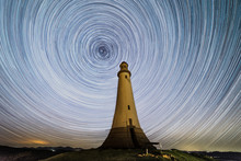 The Hoad Or Sir John Barrow Monument With Star Trails