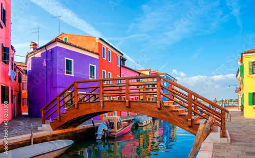 Fototapety, obrazy: Colorful houses in Burano island near Venice, Italy.