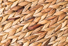 Wicker Wood Background. Wicker Texture Closeup.