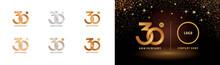 Set Of 30th Anniversary Logoty...