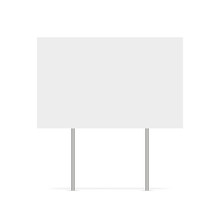 Yard Sign Vector Isolated Blan...