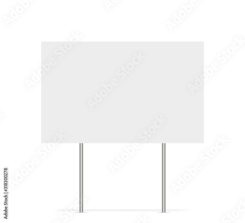 Fototapeta Yard sign vector isolated blank element. Copy space. Horizontal advertising banner. Mockup horizontal. Vector banner. obraz