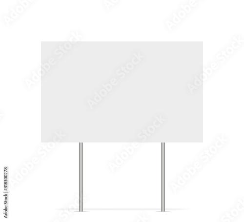 Obraz na plátně Yard sign vector isolated blank element