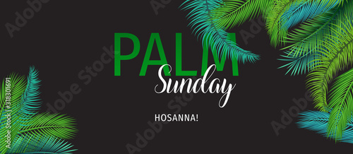 Leinwand Poster Palm Sunday (HOSSANA!) Holiday Greeting Card