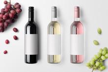 Wine Bottles Mockup Isolated O...