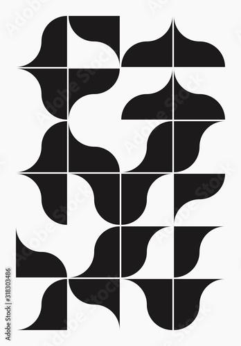 Plakaty czarno białe   vertical-abstract-vector-pattern-design