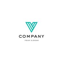 Creative Initial Letter V Logo...