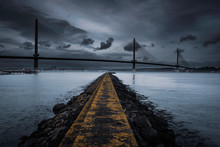 Queensferry Crossing, Firth Of Forth, Scotland, Uk.