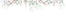 Watercolor Painted Floral Fram...