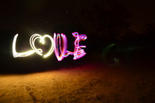 Love Light Painting On Field A...