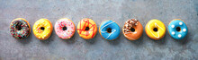 Various Colourful Donuts In A ...