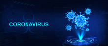 Hologram Of Coronavirus COVID-...