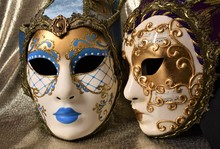 Venetian Masks For Carnival On...