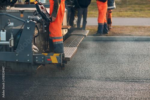 Fotografiet Asphalt paving
