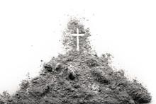 Golgota Hill With Jesus Cross ...