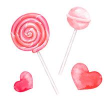 Lollipop Spiral. Sweet Candy. ...