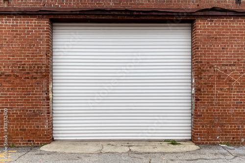 brick wall warehouse receiving door alley