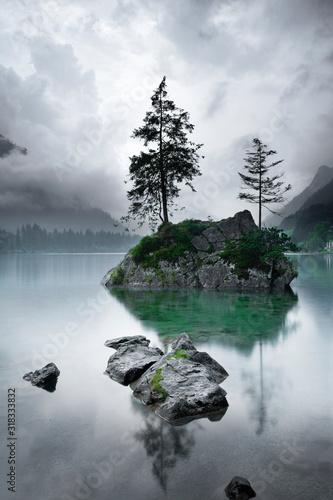 Der Hintersee bei Ramsau, Bayern