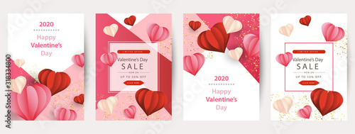 Happy Valentine's Day greeting card design Wallpaper Mural