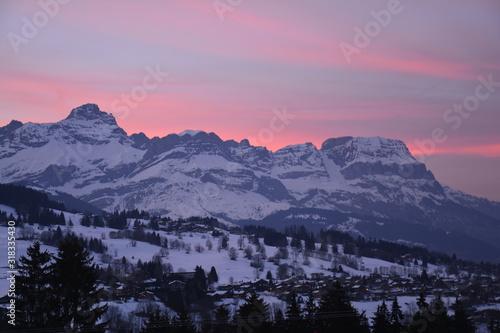 Photo Coucher de soleil Alpes Megève Haute Savoie France