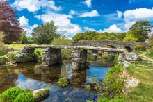 Medieval Clapper Bridge Over T...