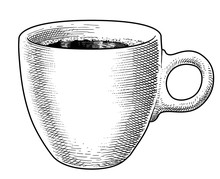 Coffee Mug Illustration, Drawi...