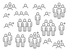 People Line Icons. Business Pe...