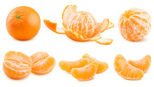 Mandarin, Tangerine, Isolated ...