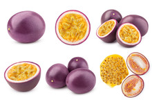 Passionfruit Isolated On White...