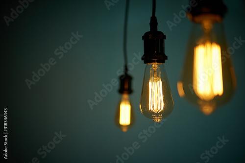 Obraz Edison Lampe vintage retro waagerecht - fototapety do salonu