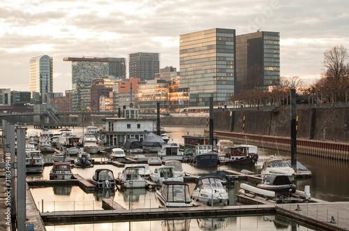Fototapety, obrazy: Medienhafen Düsseldorf
