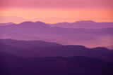 purple sunset in the mountains - 318350288
