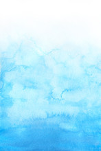 Sky Blue Watercolor Abstract B...
