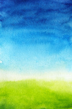 Watercolor Background Is Green...