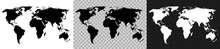 Set World Map On White, Transp...
