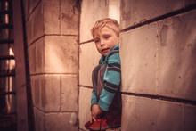 The Blond European Boy Is Sad....