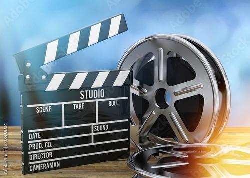Cinema Entertainment - 3D Canvas Print
