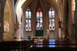 Leinwanddruck Bild - Intérieur de l'église catholique Saint André dans le village de Chatillon sur Chalaronne - Département de l'Ain - Région Rhône Alpes - France - Construite au 15 ème siècle