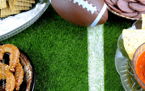 Photo Snacks for watching a football game