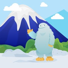 Abominable Snowman Stands On S...